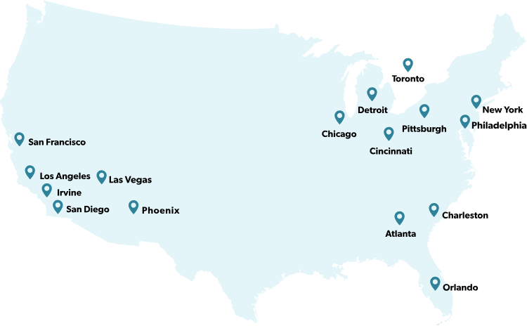 us map of patriot communications office locations